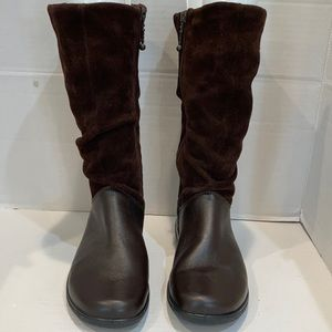 Hotter Mystery Brown Leather Suede Boots NWOT 7.5
